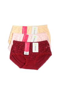 Pack of 3 Cotton Back Lace Panties Combo2