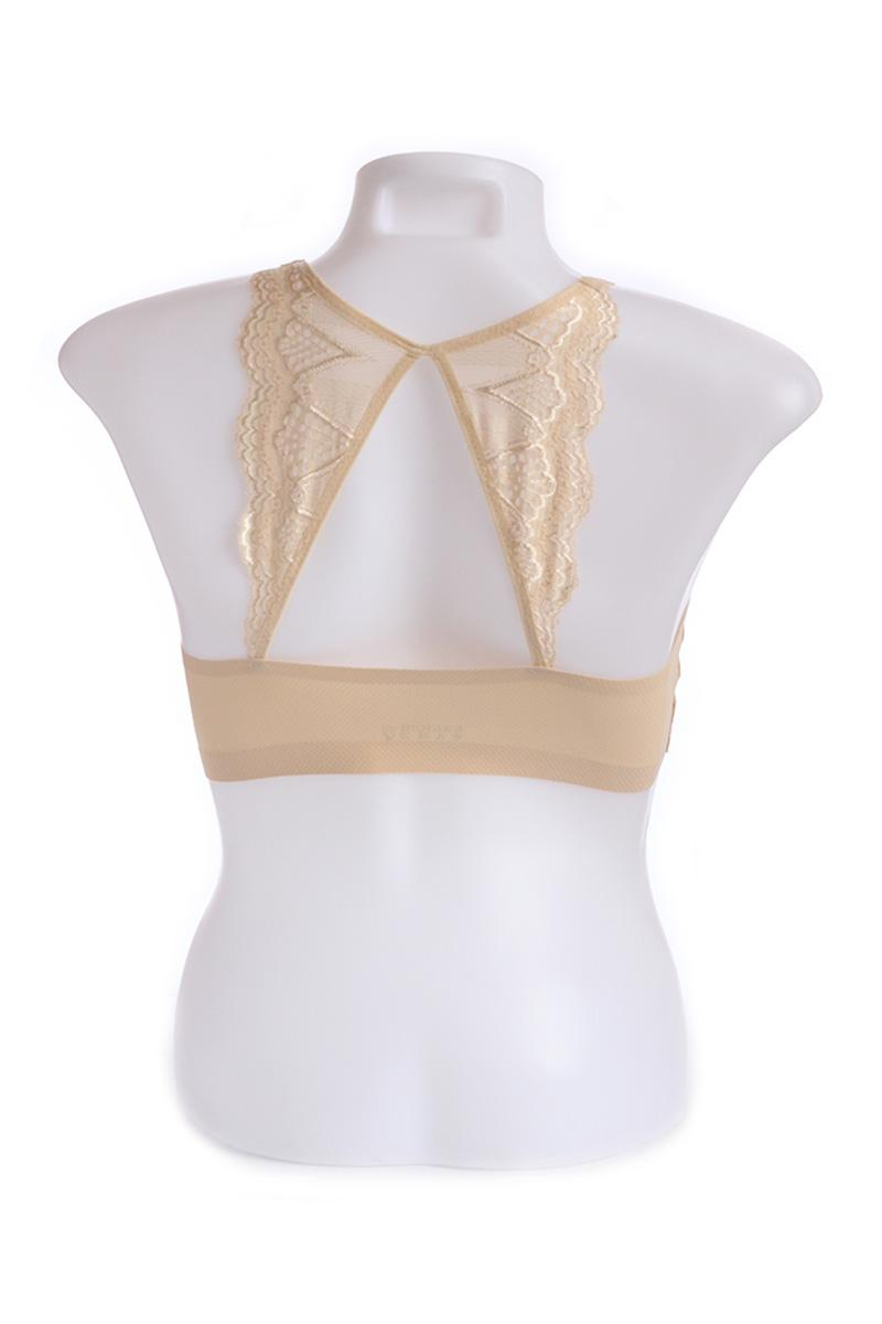 Beige Seamless Butterfly Design Cage Bra (Free Size)